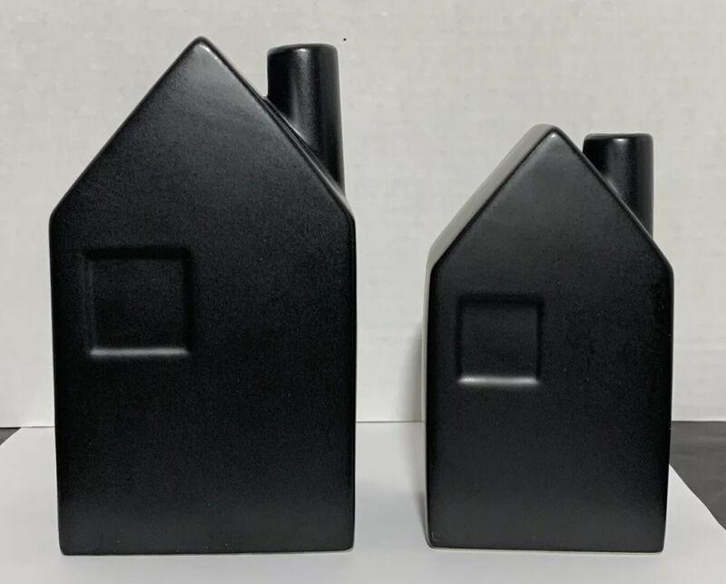Hearth and Hand W/Magnolia 2017 Black House Bud Vases (Set Of 2, Medium & Small)
