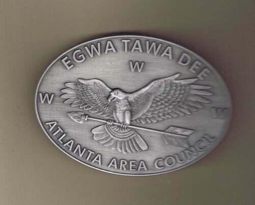 129 Egwa Tawa Dee Silver Tone Belt Buckle Cs