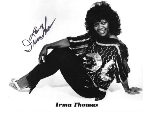 * IRMA THOMAS * signed 8x10 photo * SOUL QUEEN OF NEW ORLEANS * COA * 1