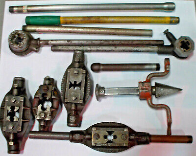 Lot Of 12 Pieces 2 Pipe Threaders And Rigid 341 Reamer