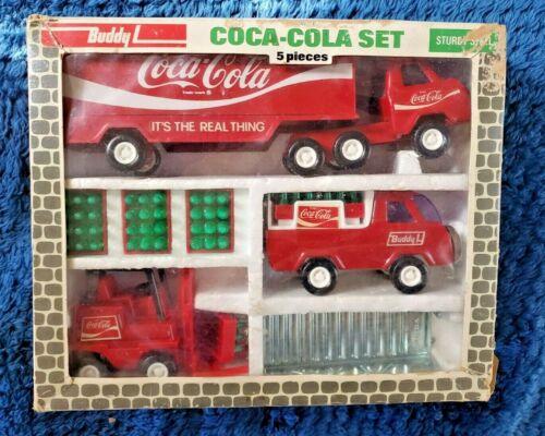 Vintage Buddy L Coca-Cola Set #4973 Still In Box COMPLETE W/ FORKLIFT BOTTLES