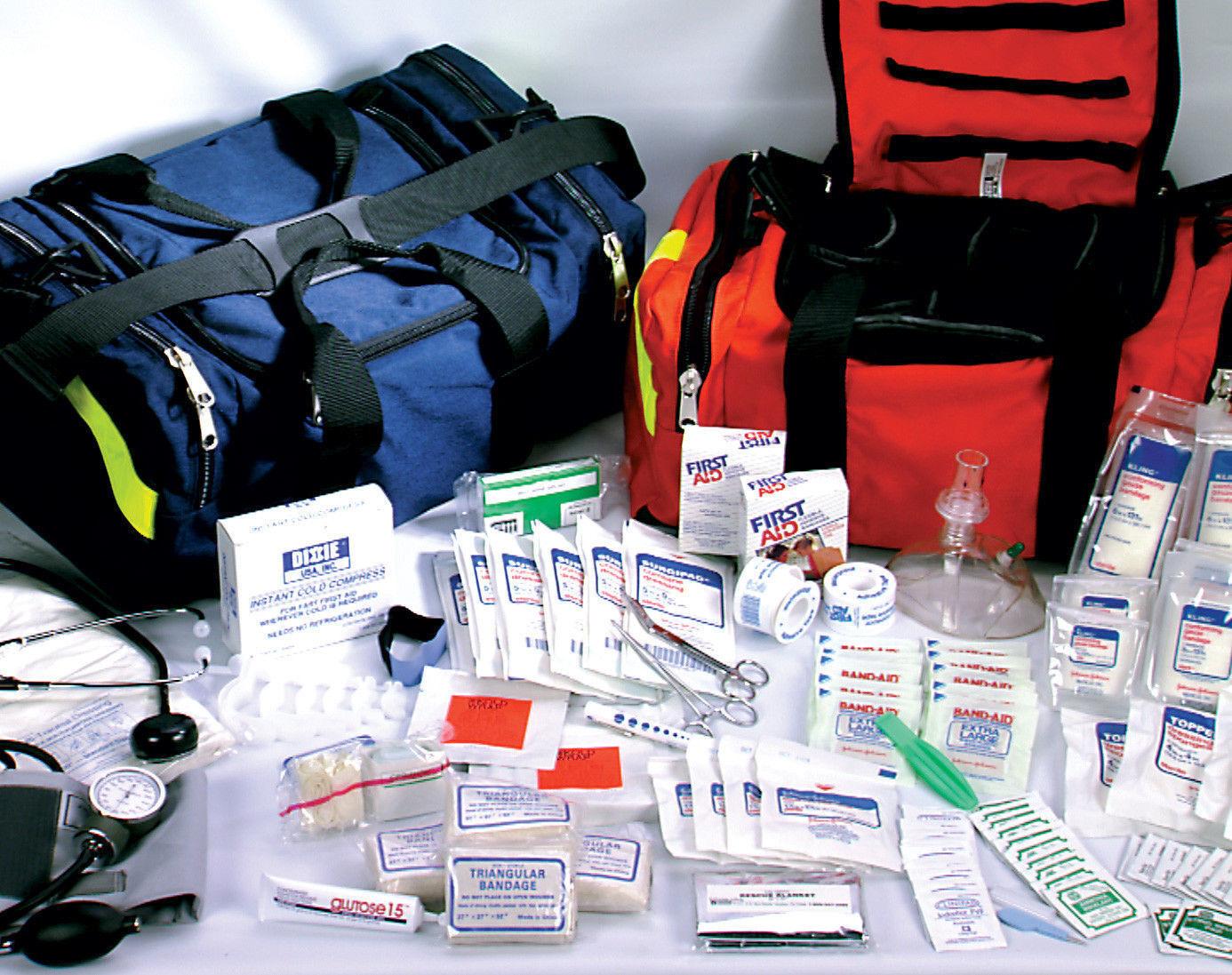 Best NEW FIRST RESPONDER PARAMEDIC TRAUMA EMERGENCY MEDICAL KIT FULLY STOCKED  NEW BAG