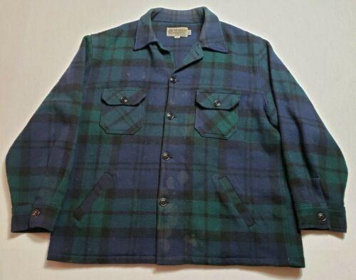 Vintage Bemidji Flannel Shirt XL Made in USA Plaid Blue