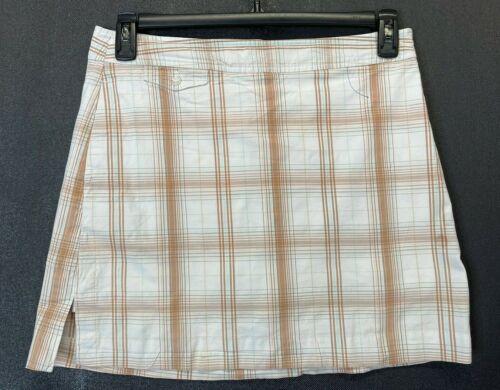 Izod XFG Women Tennis Golf Short Skort Skirt Plaid Size 8 STRETCH