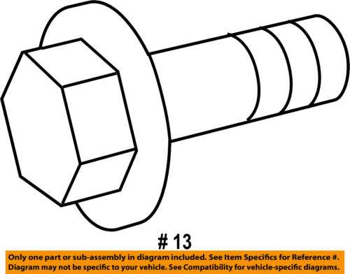 Ram Chrysler Oem 17 18 3500 Rear Suspension Upper Control Arm Bolt