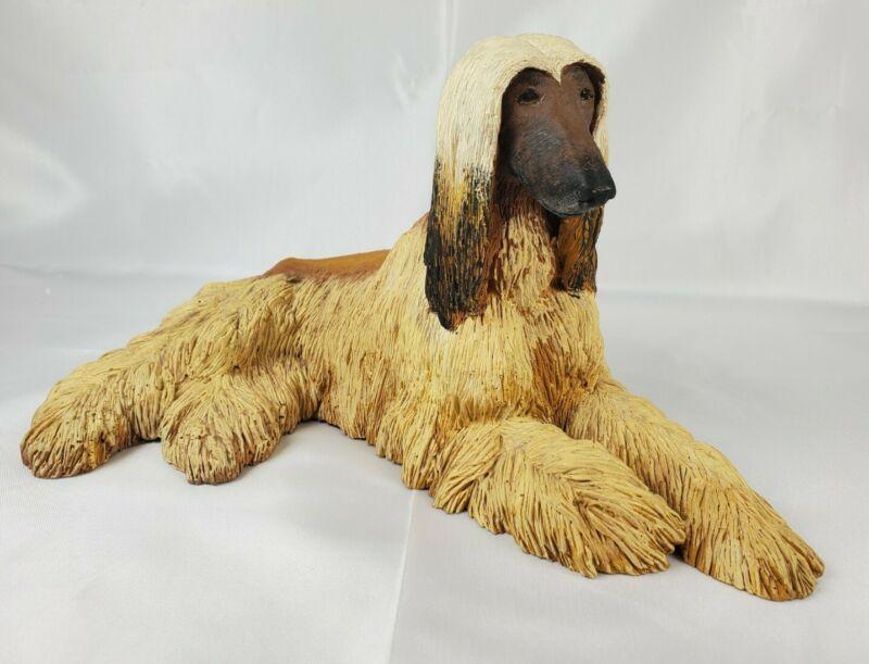 "Blond Afghan Dog Figurine Figure Sculpture 9"""
