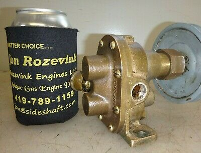 Lobee Brass Body Gear Water Pump For Hit And Miss Old Gas Engine 38 Pipe
