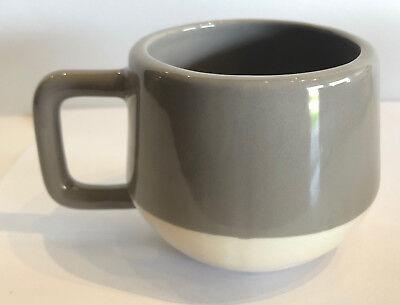 Kate Spade Saturday Gray & Cream 8oz Coffee Cup/Mug