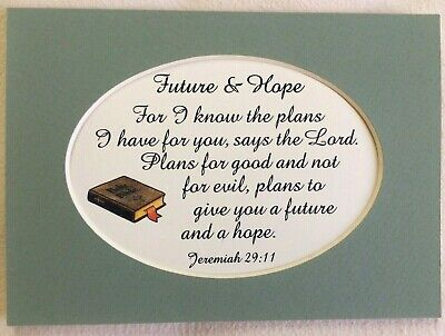 Graduation Bible Verses (Graduation FUTURE HOPE God's Plans JEREMIAH 29:11 Plans Bible verses poem)