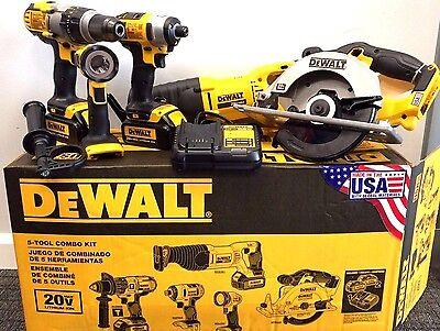 DEWALT 20V MAX Li-Ion 5-Tool Combo Kit DCK590L2 new