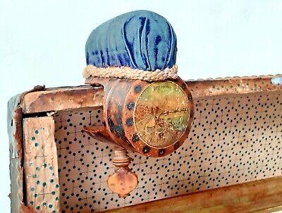 ANTIQUE GEORGIAN TREEN WOOD POKER WORK TUNBRIDGE WARE SEWING CLAMP PIN CUSHION