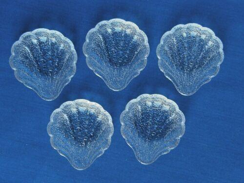 5 Butter Pats/Open Salts-Shell Tassel Pattern-Duncan EAPG Victorian Glass