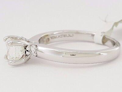 1.04 ct Cordova 14K White Gold Radiant Cut Diamond Solitaire Engagement Ring GIA 2