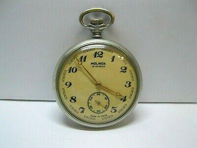 RARE! Vintage Soviet Pocket Watch Molnija Molniya Train SERKISOF DEMIRYOLU