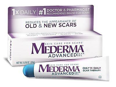 NEW Mederma Advanced Scar Gel .7 oz Tube
