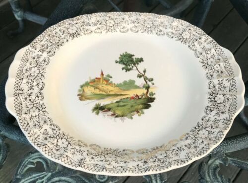 Limoges American China warranted 22 kt gold Chateau-France, serving platter