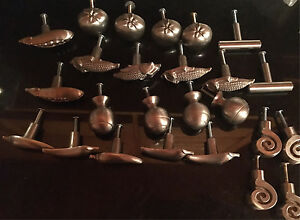 25 Drawer knobs & 4 Drawer Pulls (Satin Nickel finish)