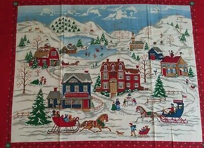 Cranston VIP HOME FOR THE HOLIDAYS Christmas Village Wall Panel Winter Scene  - Christmas Winter Scenes