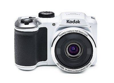 "Kodak PIXPRO Astro Zoom AZ251 16 MP Digital Camera 25X Optical Zoom 3"" LCD White"