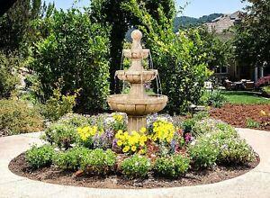 Large Outdoor Water Fountain Fiberglass  3-Tier 45