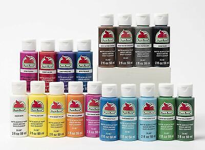 Acrylic Paints Apple Barrel Paint, Assorted Basic Colors Set (18 pack) 2 oz each