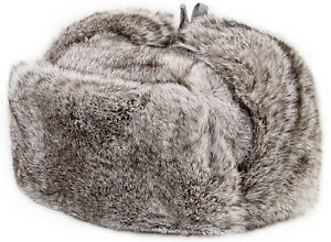 REAL Rabbit FUR Trapper hat Cossack Hat Ushanka Russian style hat Xmas Winter
