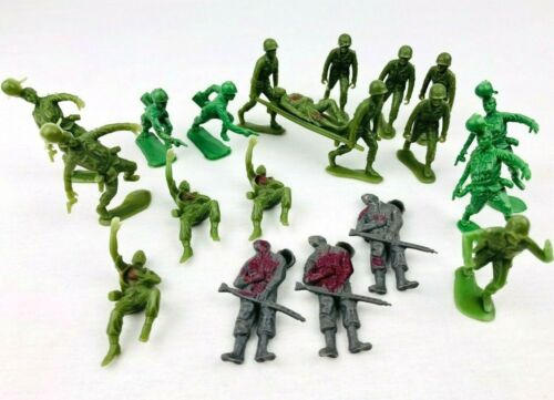 20 Lot Vintage Toy Soldier Medics Wounded Casualty Army Men Figure Marx HK  *Fc