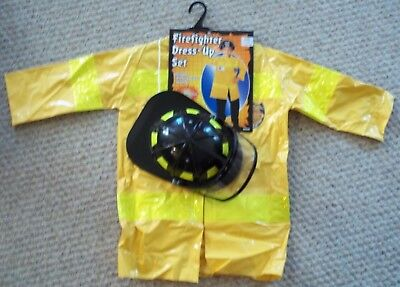 Children's Firefighter Halloween Costume (NEW FIREFIGHTER FIREMAN Halloween Costume Child Boy's or Girl's Size Large)