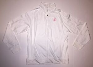 Peter Millar Cypress Point Golf Club Jacket Size XL White Cotton Full Zip Rare
