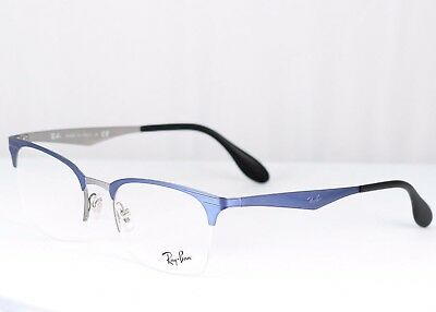 New Authentic Semi Rimless Ray Ban Frame RX6360 2863 51-20-145 Retail $165 (Ray Ban Semi Rimless Frames)