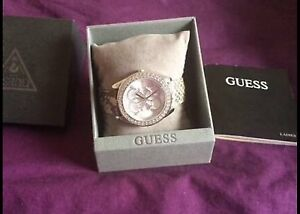 GUESS genuine leather silver watch Southern River Gosnells Area Preview