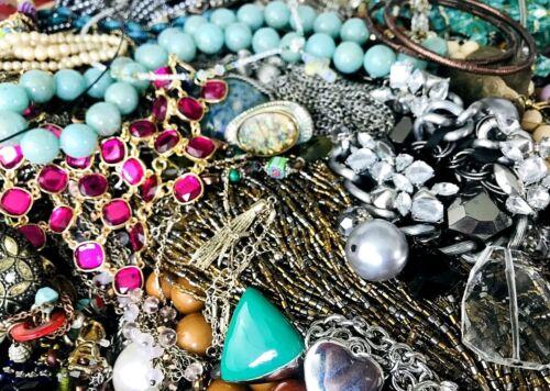 Huge Lot Junk Drawer Jewelry 10 lbs Vintage Modern Craft Repurpose Repair