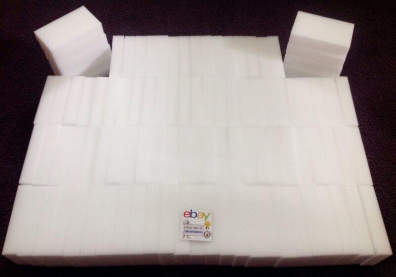 100 Premium Grade Magic Sponge Eraser BULK PACK Melamine Cleaning USA Seller NEW