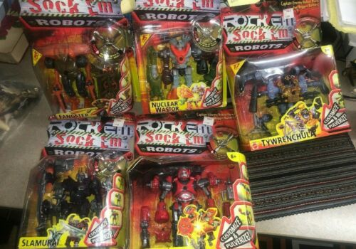 Rock Em Sock Em Robots Mattel 2000 Sealed NIB Lot of 5