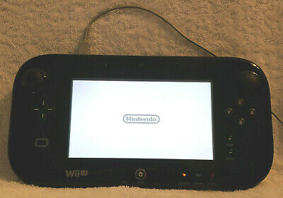 Authentic Nintendo Wii U Black Gamepad Only Tested Working! WUP-010 Genuine OEM