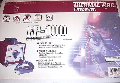 Thermal Arc Fp-100 Stick Welding Machine Ac Welder Welds 316 W 332 Rod