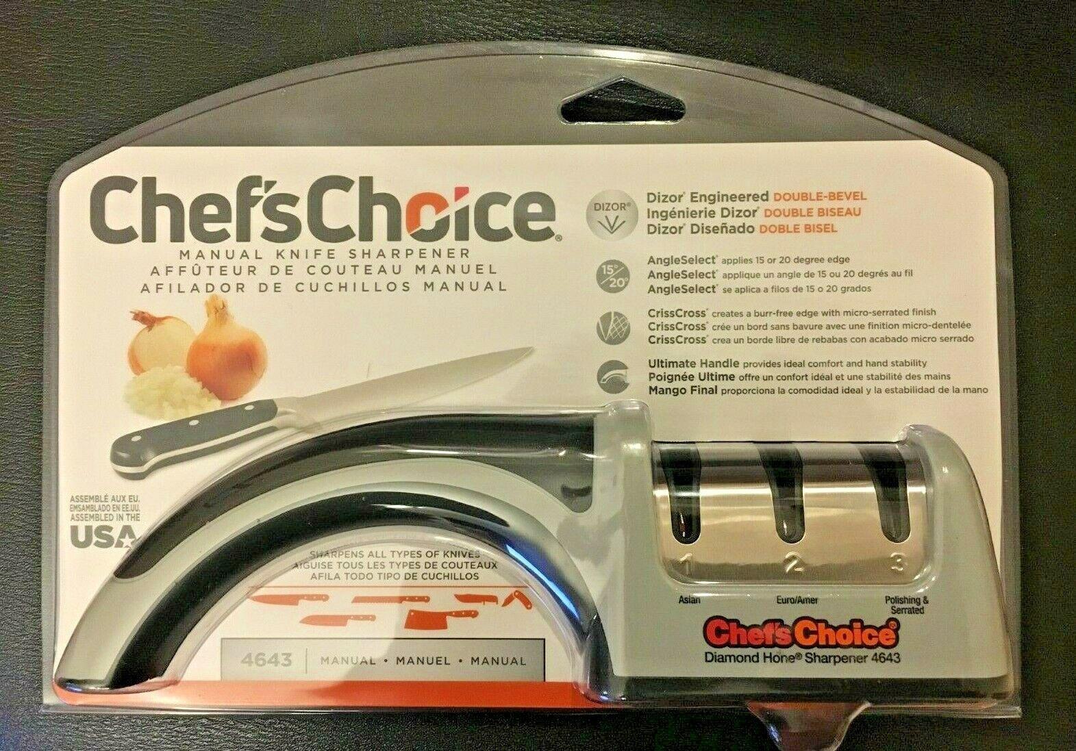 Chef'sChoice 4643 ProntoPro Diamond Hone Manual Knife Shar