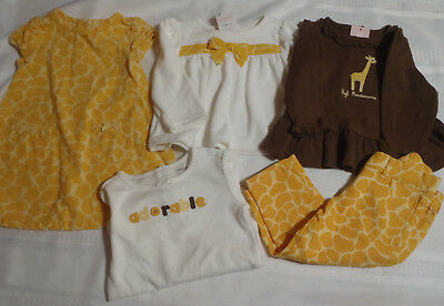 Gymboree Baby Giraffe 12-18 Month Bodysuit Shirts Used Pants Dress Defect