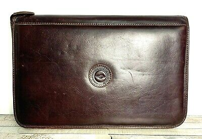 Xlarge 10x15 Cardon Brown Genuine Leather Portfolio Organizer Paper Holder