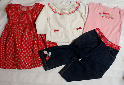 GYMBOREE 18-24 Month Sweeter Than Candy Bodysuit Jeans Dress Sweater Outfit NWT