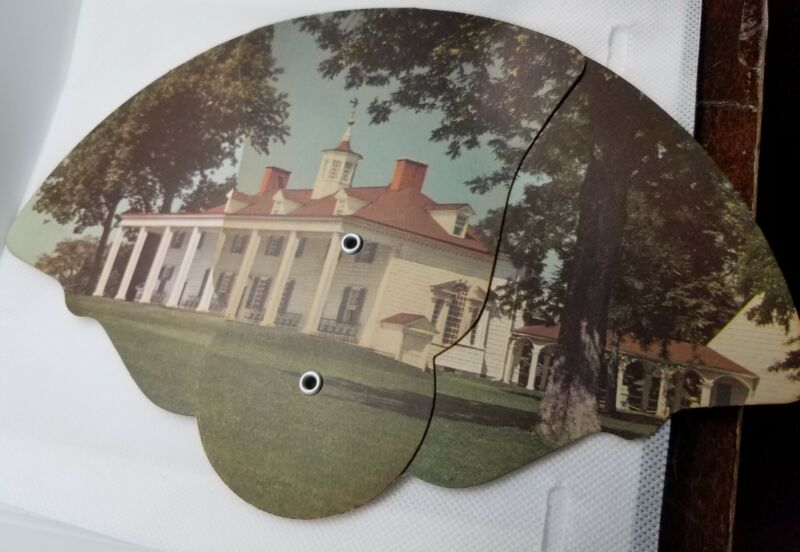 Vintage Hathaway Funeral Home Columbus Indiana Folding Paper Fan