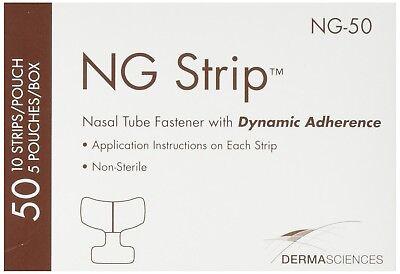 Derma Sciences Ng Strip Nasal Tube Fastener Dynamic Adherence Adult--box Of 50