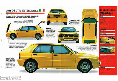 Lancia Delta Integrale Imp Brochure: 1994,1993,1992,1991,......