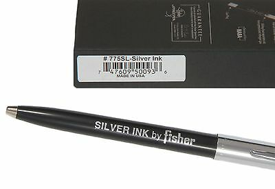 Fisher Space Pen 775sl / Black & Chrome Apollo Pen With Silver Ink