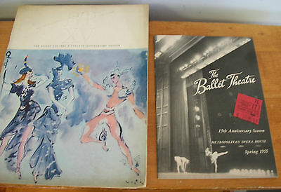 1955 BALLET THEATRE Fifteenth Anniversary Season Program, Playbill & Ticket Stub