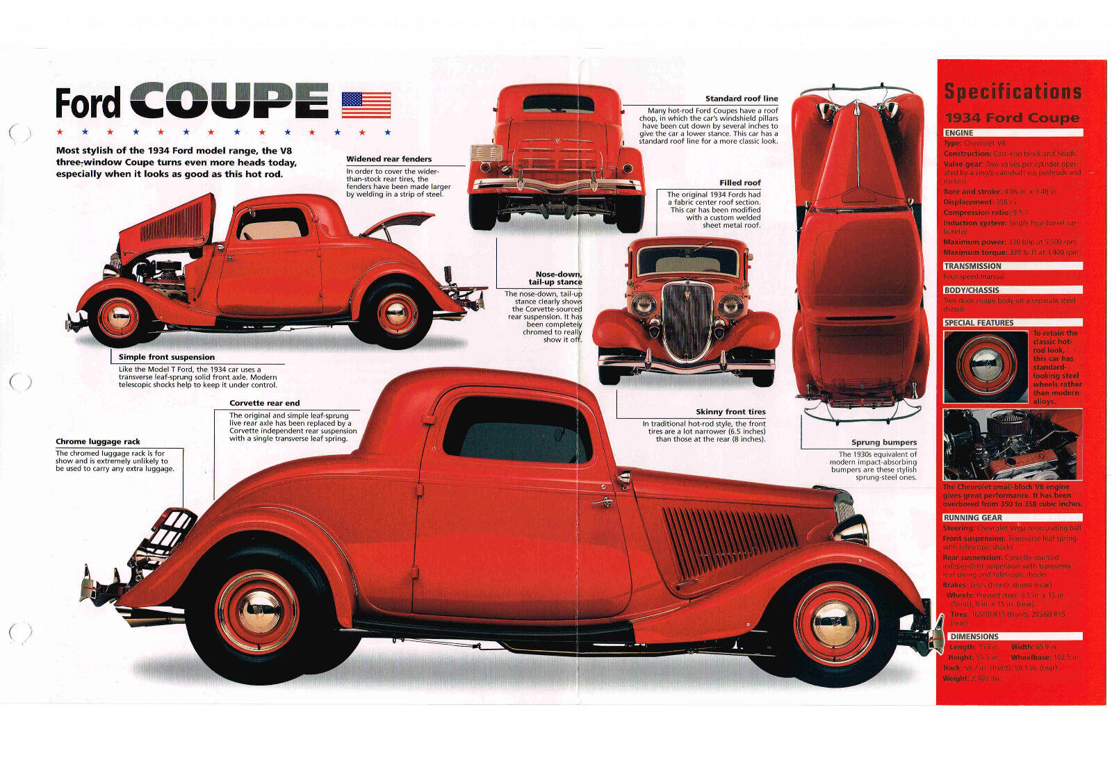 1934 Ford Coupe Custom Hot Rod Imp Brochure