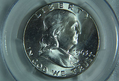 1963 FRANKLIN HALF DOLLAR PCGS MS64 WHITE