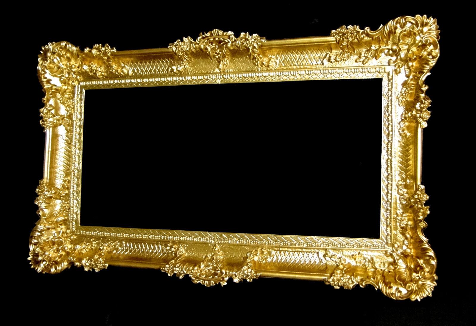 barock spiegel wandspiegel rechteckig antik badspiegel gold antik 96x57 206 1 eur 79 90. Black Bedroom Furniture Sets. Home Design Ideas