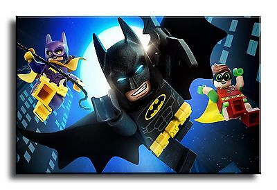 Large Wall Art Canvas Picture Print of The Lego Batman Movie Framed