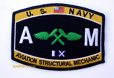 Aviation Structural Mate AM RATING HAT PATCH US NAVY USS PIN UP ENLISTED VETERAN
